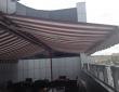 """03. Летний ресторан на крыше """"Frau Gros"""", г. Пенза, Двусторонняя отдельностоящая терраса из 4-х маркиз по 7 м каждая"""