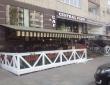 """09. Летнее кафе """"CENTRAL PERK KAFE"""", г.Саратов, ул.Вольская, две маркизы 7 и 6 м, освещение и обогреватели, вид сбоку"""