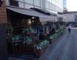 """16. Чайхана """"Узбечка"""", г.Саратов, летнее кафе, отдельно стоящие маркизы, общая длина 17 м, освещение и обогреватели, вид со входа в чайхану"""