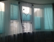 Плиссе с тюлью в детской комнате