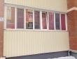 54. Лоджия, шторы плиссе, вид с улицы