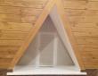 """20. Гостиница """"Колесо"""" г.Каменка, трасса Пенза-Тамбов, шторы плиссе на треугольном окне"""