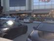 """17. Чайхана """"Узбечка"""", г.Саратов, летнее кафе, отдельно стоящие маркизы, общая длина 17 м, освещение и обогреватели, вид со стоянки"""
