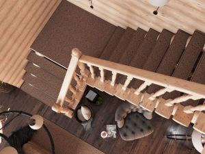 Лестница с ковриками